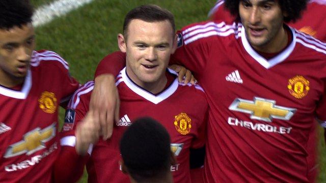 Wayne Rooney curler puts Man Utd ahead of Derby County