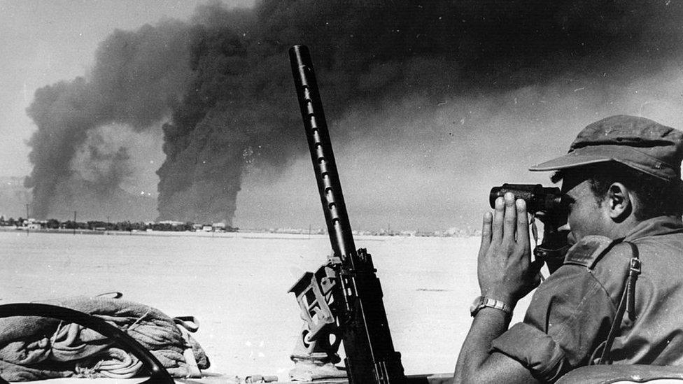Soldado israelí durante la Guerra de los Seis Días
