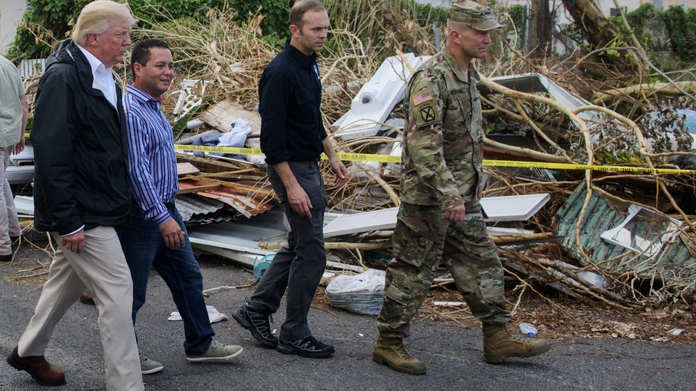 US President Trump visits Puerto Rico to see destruction caused by hurricanes