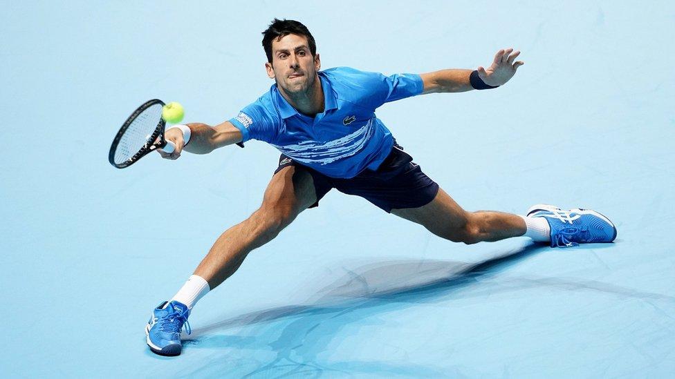 Novak Djokovic playing tennis