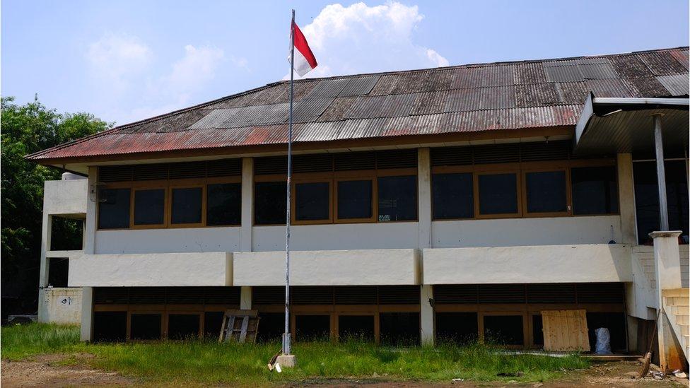 Foto de un edificio abandonado