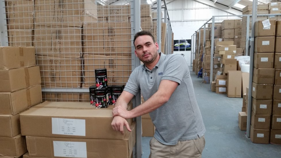 Joe Mullins, manager of Safield Distributions