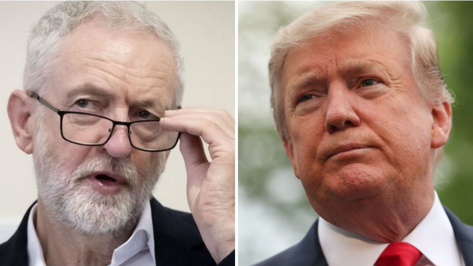Trump state visit: Corbyn boycotts Buckingham Palace banquet