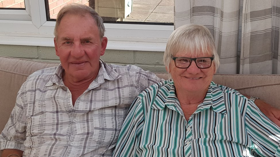 Mrs Hirst and her husband Mike have been married for 44 years