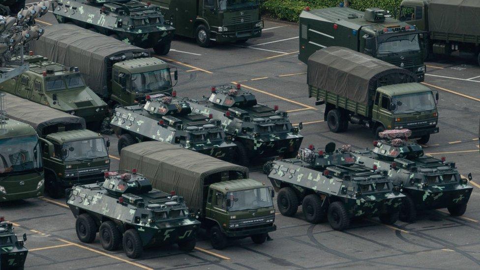 Tanks in Shenzhen