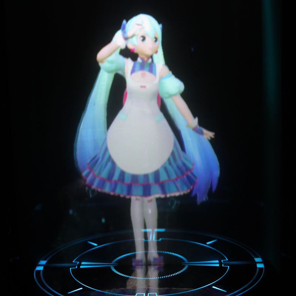 The hologram version of Miku