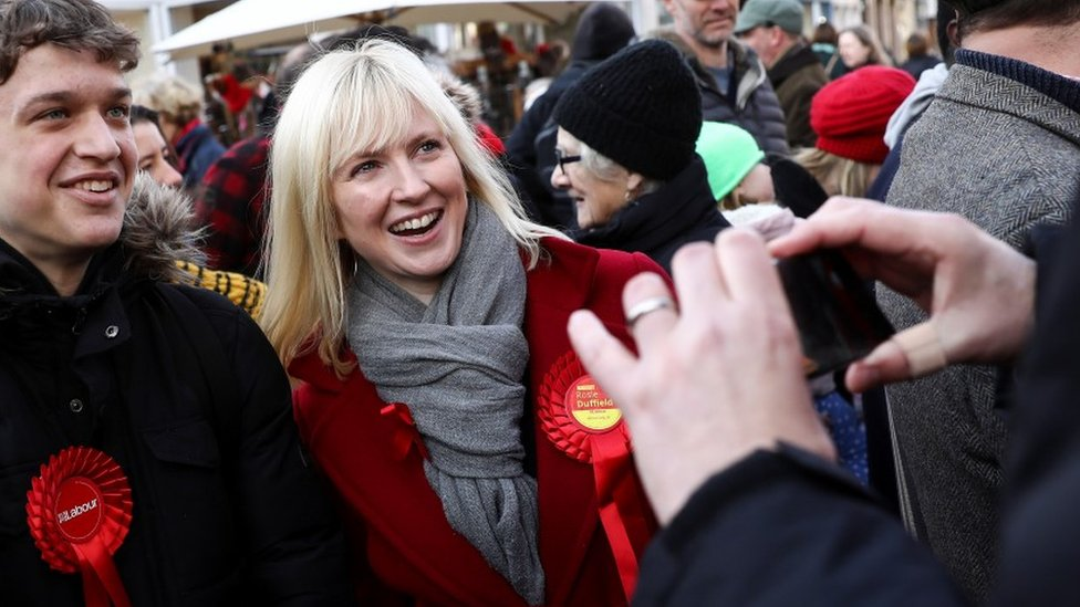 Rosie Duffield campaigning in the city