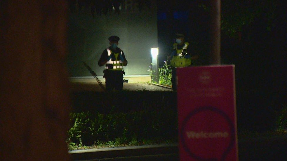 Police at Pollock Halls
