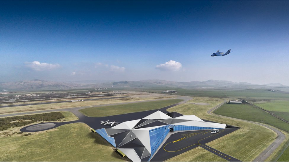 An artist's impression of the Machrihanish spaceport