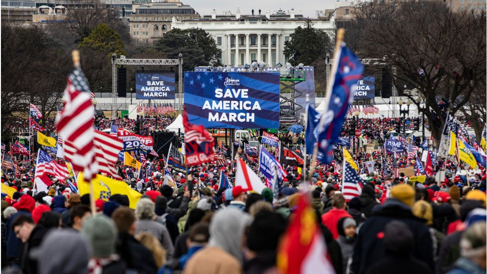 Un mitin de Trump en DC