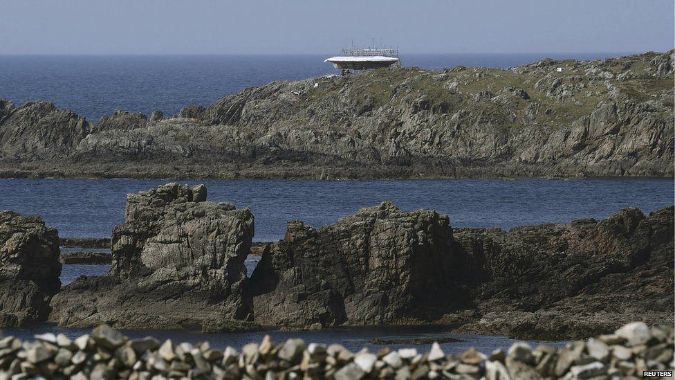 A Star Wars film set being built at Malin Head in County Donegal