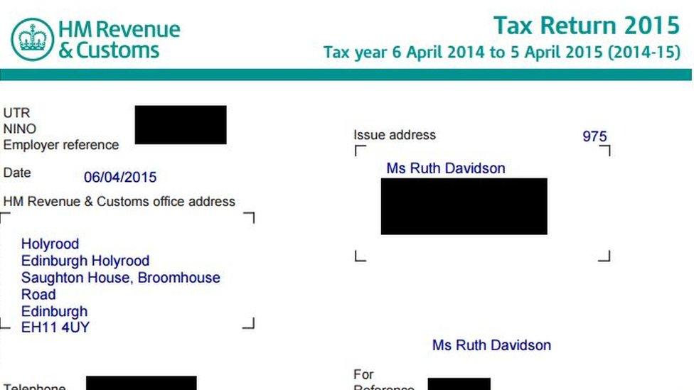 Tax return Ruth