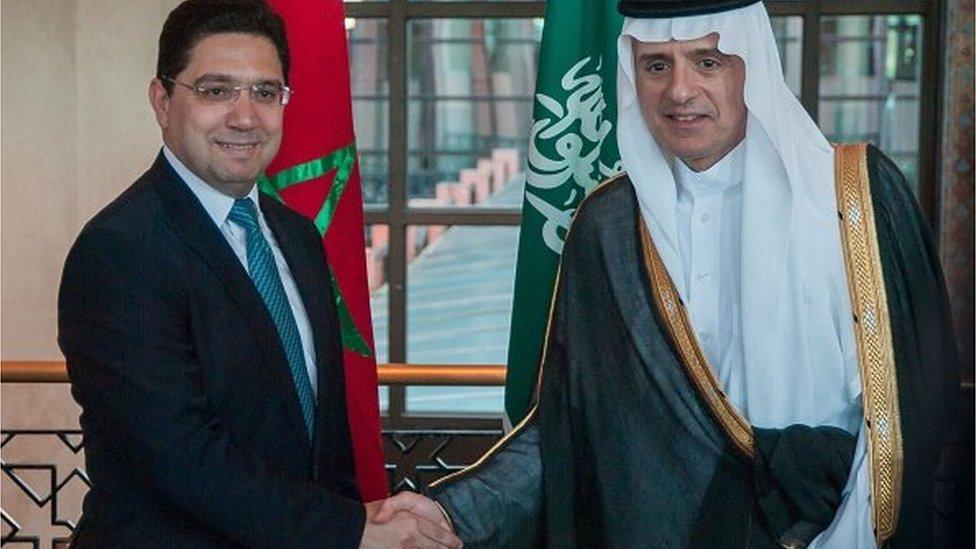 عادل الجبير ونظيره المغربي ناصر بوريطة