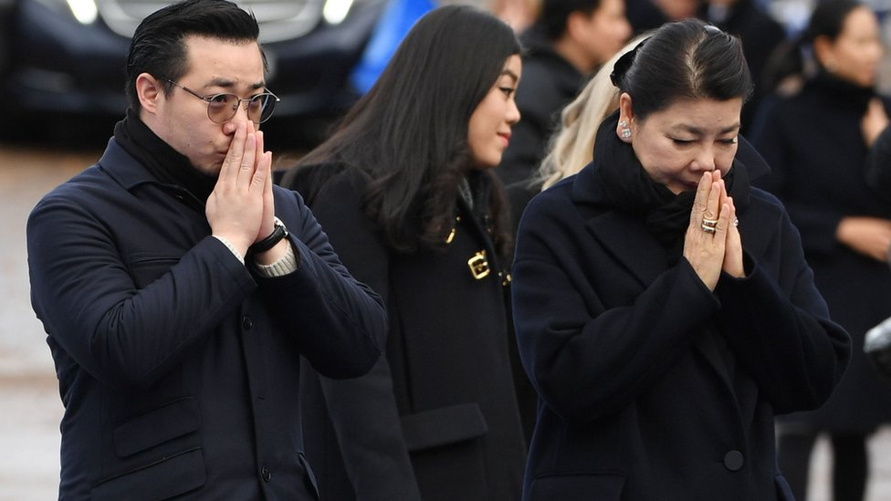 Aiyawatt Srivaddhanaprabha and Mr Vichai's widow Aimon