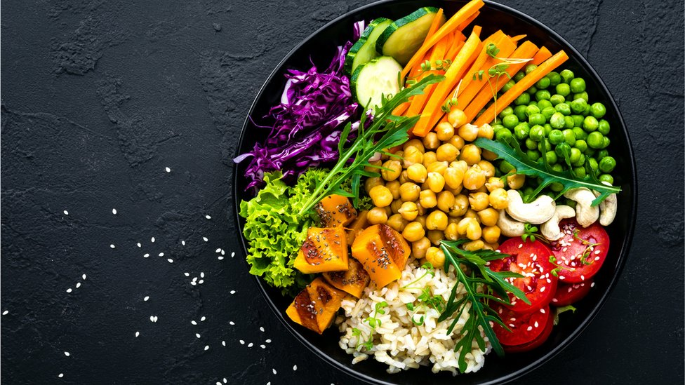 Plato de vegetales.
