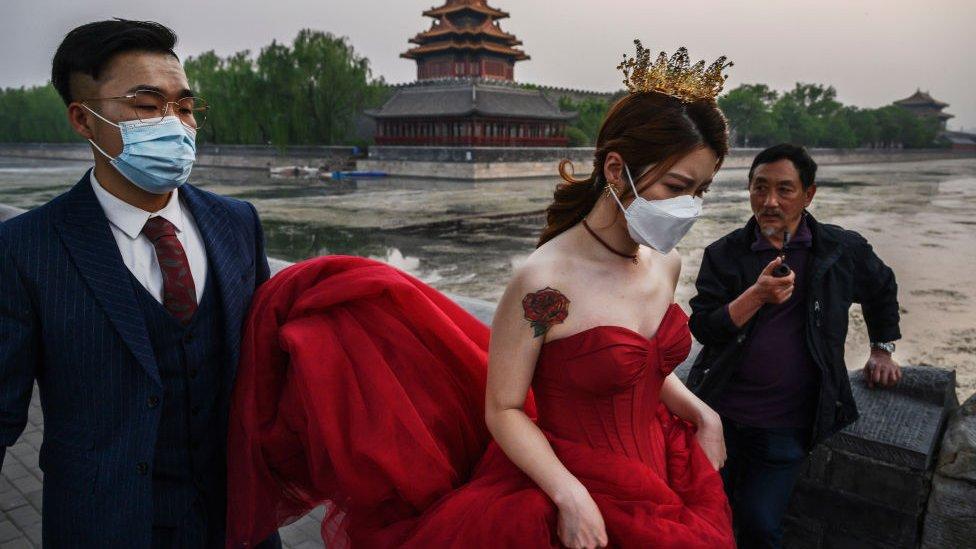 pareja en Pekín