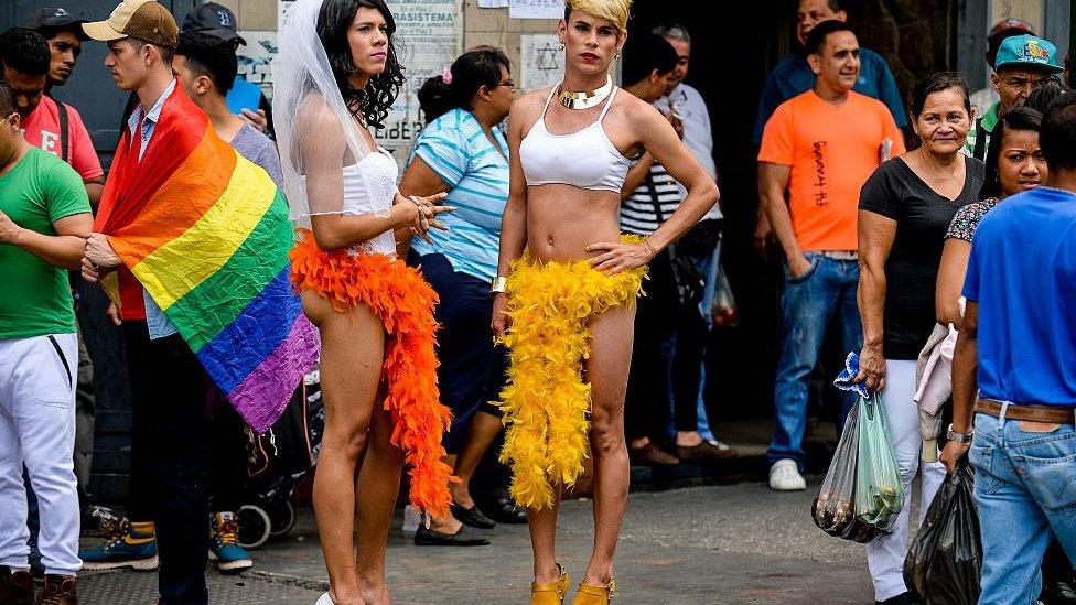 Transexuales en Caracas.