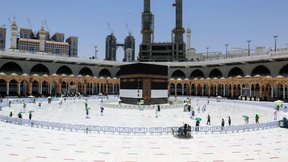 الصورة من حرم الكعبة في مكة المكرمة