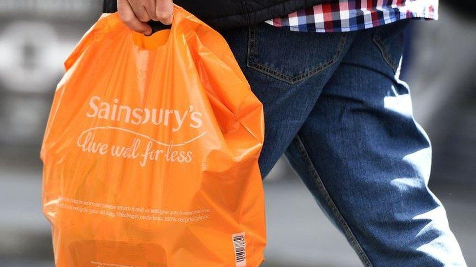 Sainsbury's carrier bag