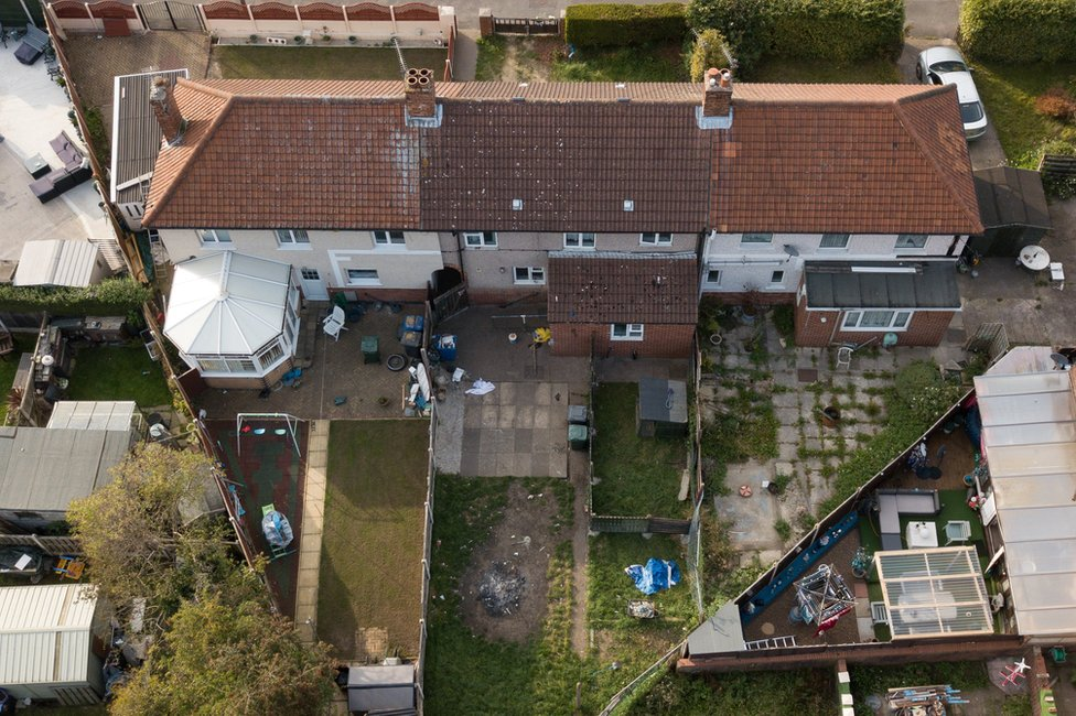 Aerial view of house in Welfare Road, Doncaster