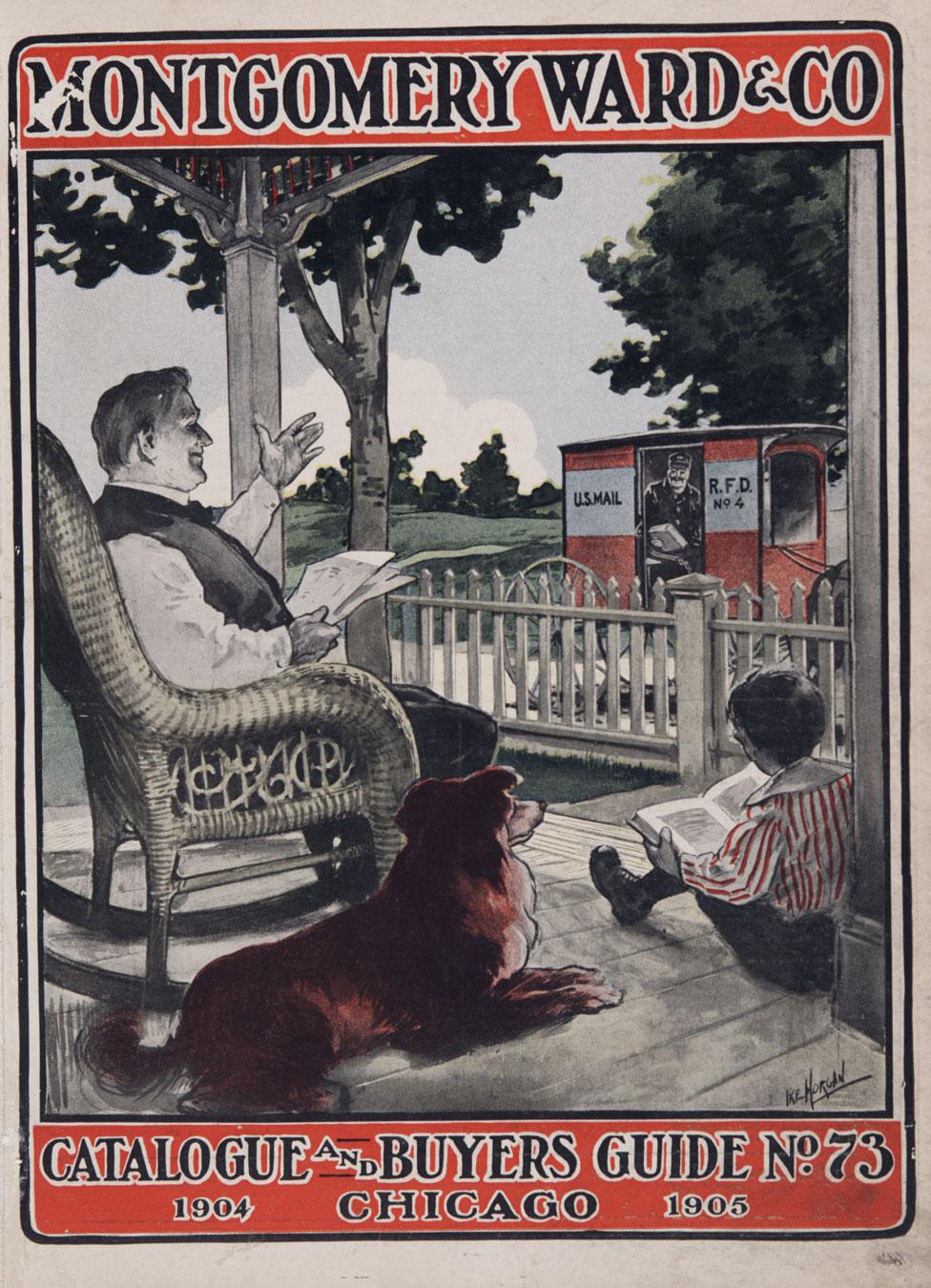 La portada del catálogo de pedidos por correo de 1904 de Montgomery Ward & Company, Chicago.