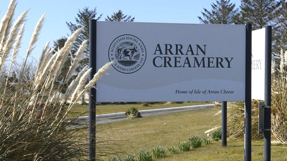 Arran Creamery sign