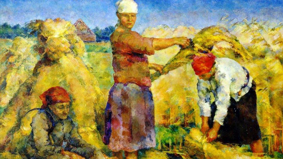 """La cosecha"", 1925, del artista Vasily Rozhdestvensky NO USAR / BBC"