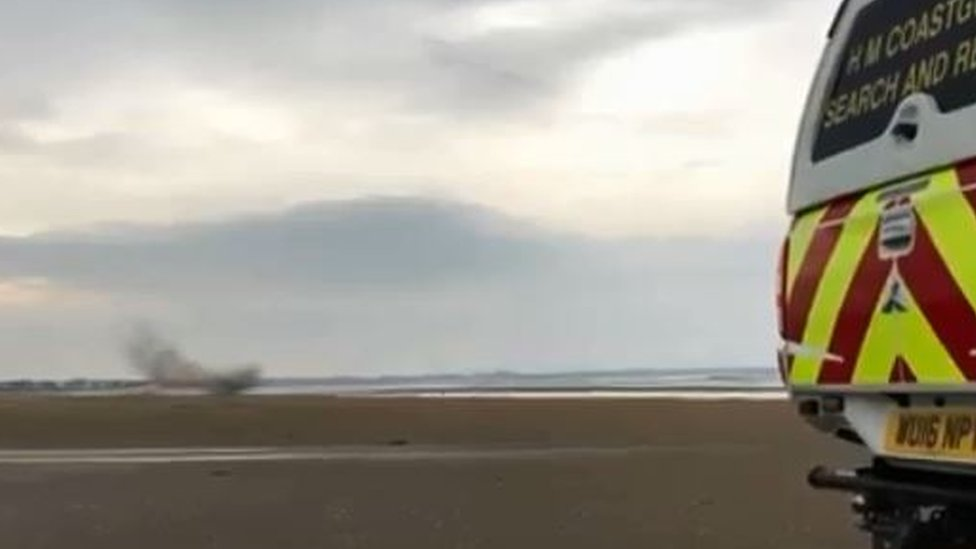 Controlled explosion on Irvine beach after ordnance found