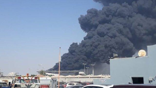 """إصابة 5 أشخاص على الأقل في حريق محطة قطار """"الحرمين"""" في السعودية"""