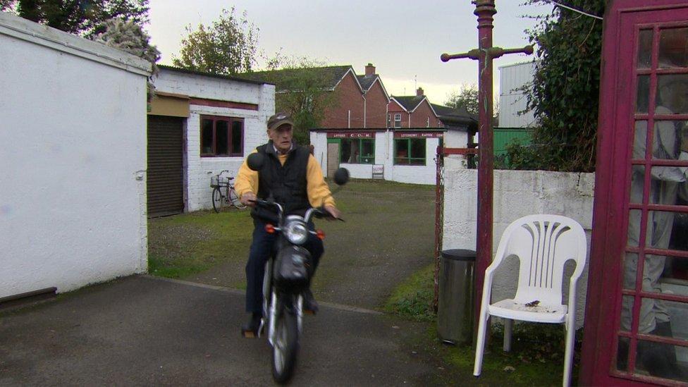 Pat Gillespie on his bike