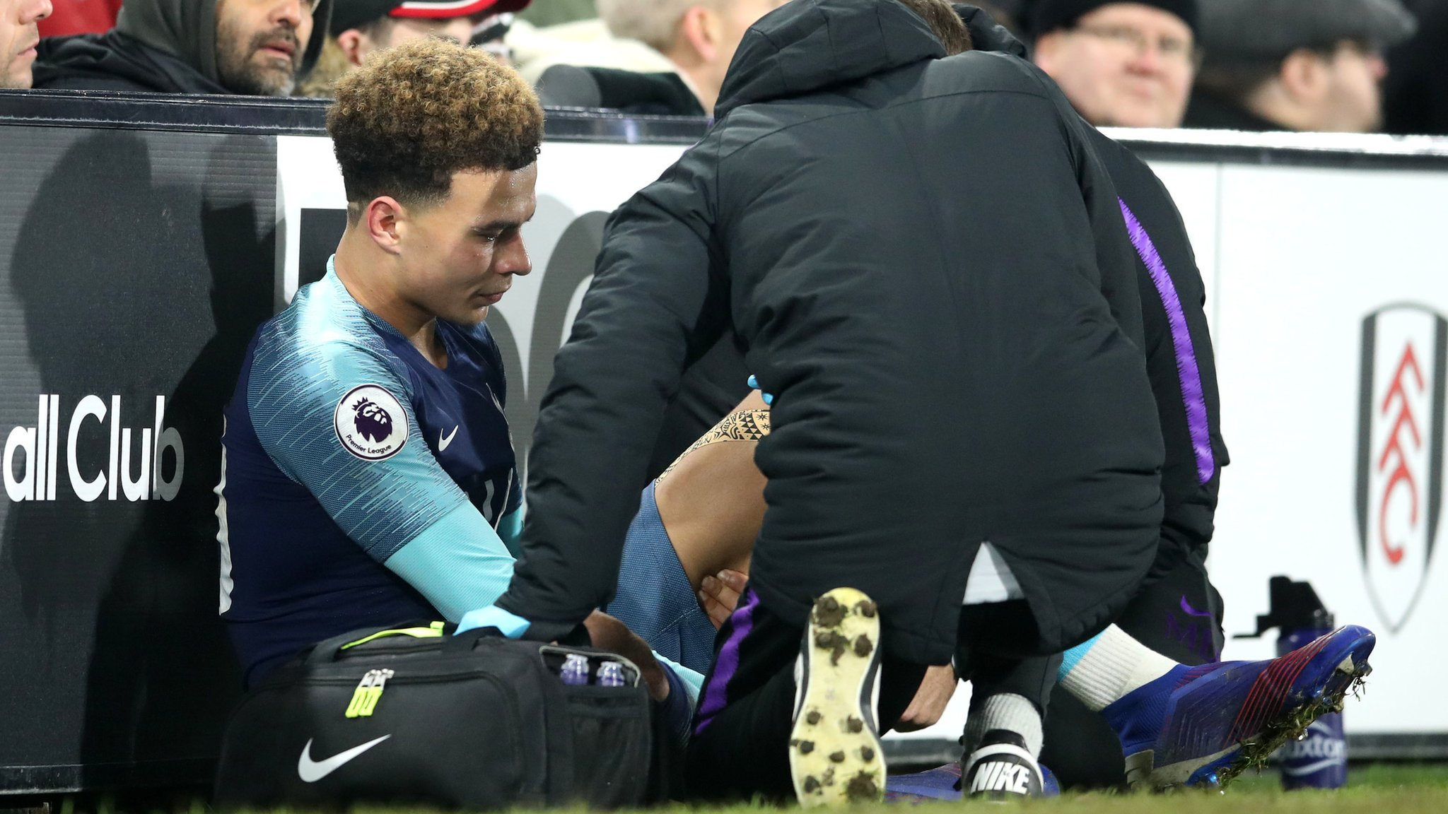 Dele Alli: Tottenham midfielder suffers hamstring injury at Fulham