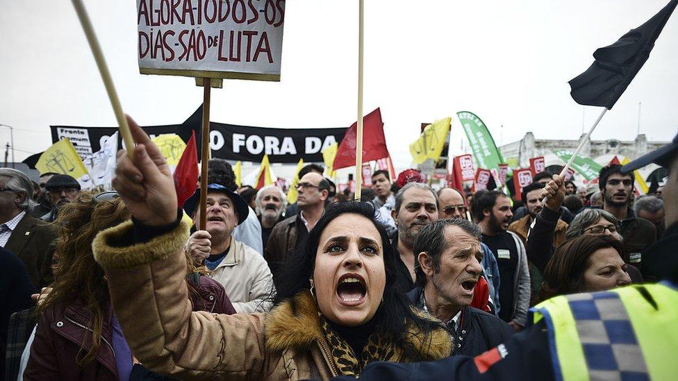 Protesta contra las medidas de austeridad en 2013.