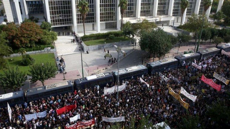 Protest ispred Apelacionog suda u Grčkoj