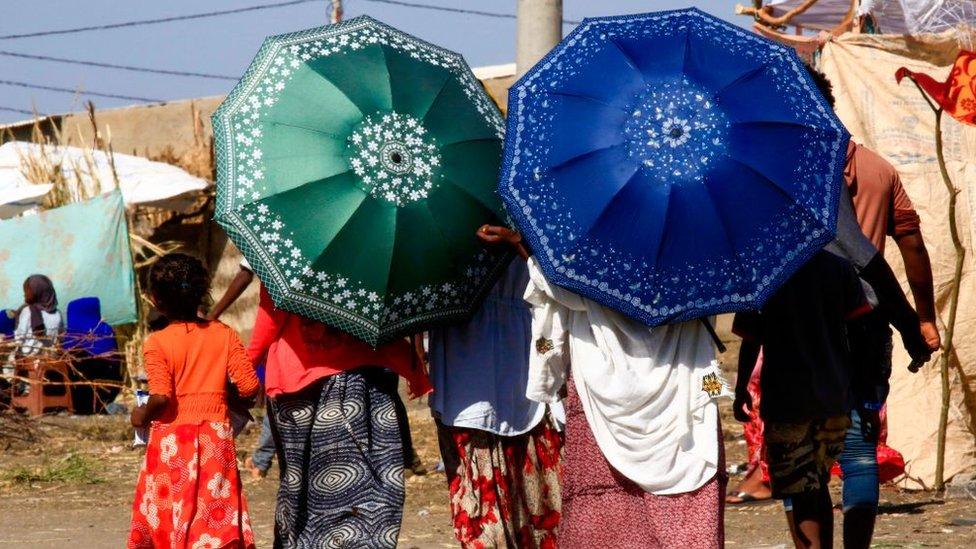 مخيم للاجئين في اثيوبيا