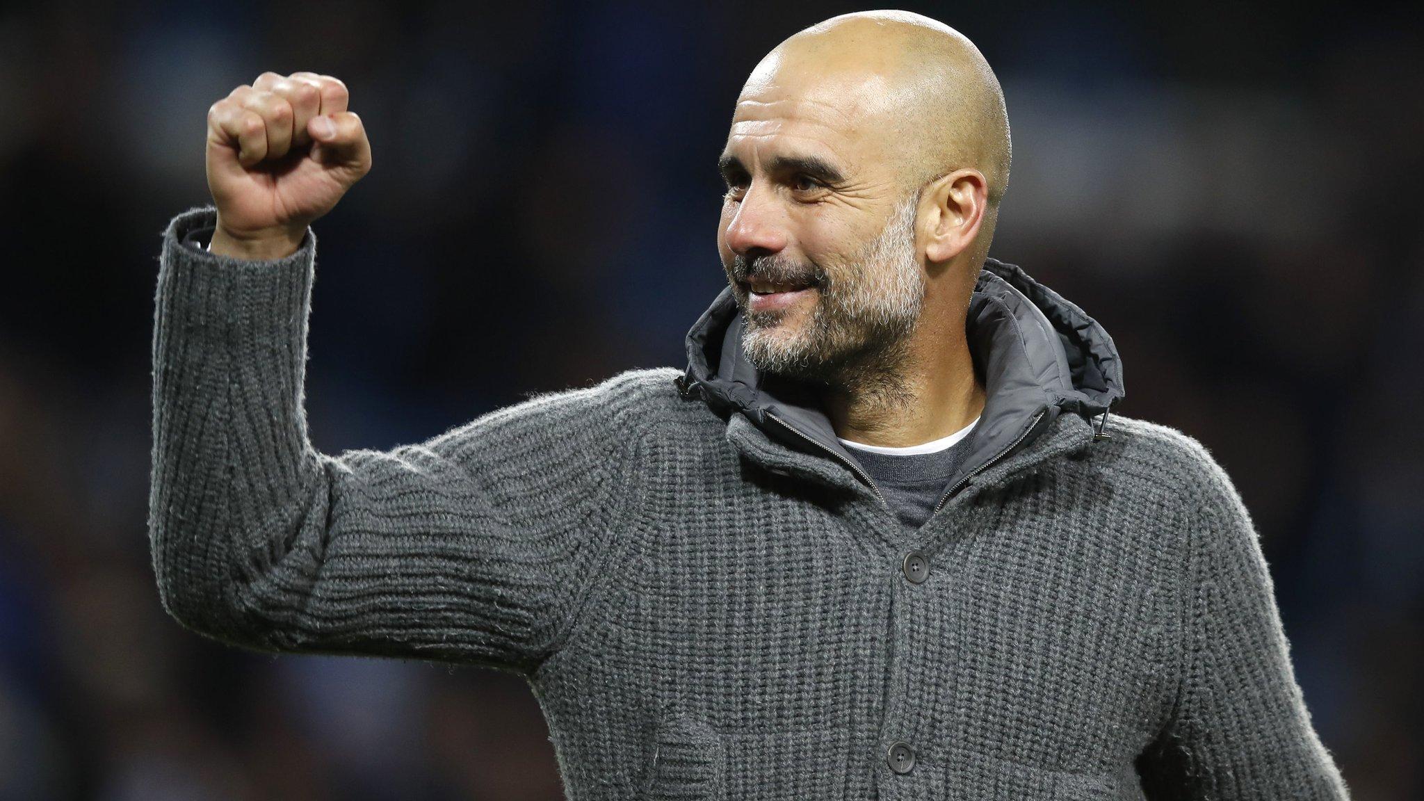 Man City to auction off Pep Guardiola's 'coatigan'