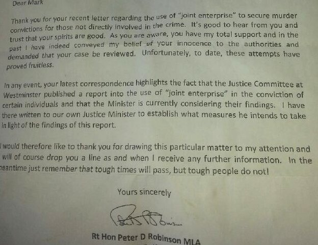 Peter Robinson letter