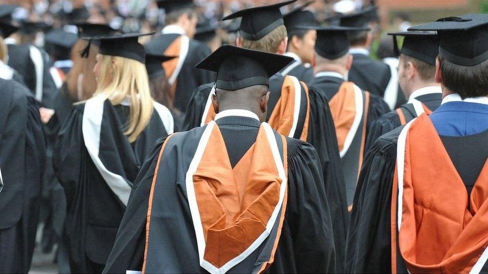 University graduates during graduation day at the University of Birmingham in 2010