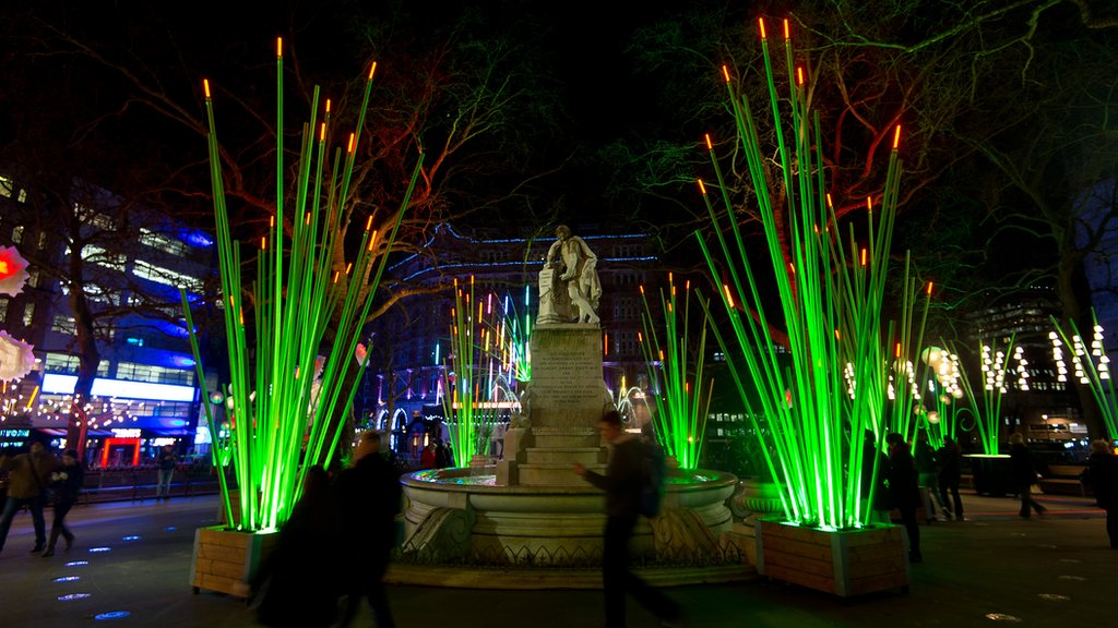 Lumiere London in Leicester Square illumiated by artist TILT