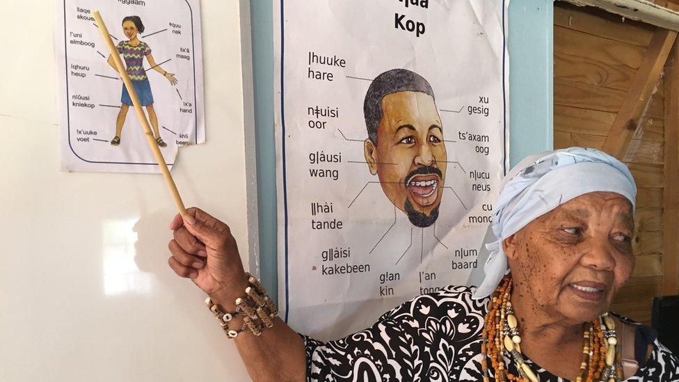 Katrina Esau teaching a class in Upington, Northern Cape
