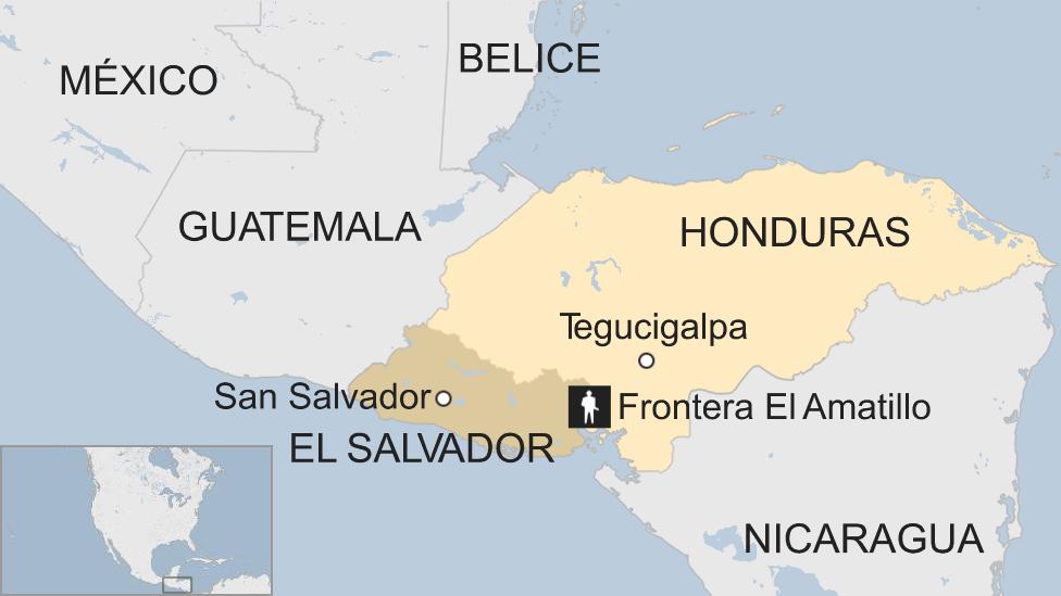 Mapa de El Amatillo, en la frontera entre Honduras y El Salvador