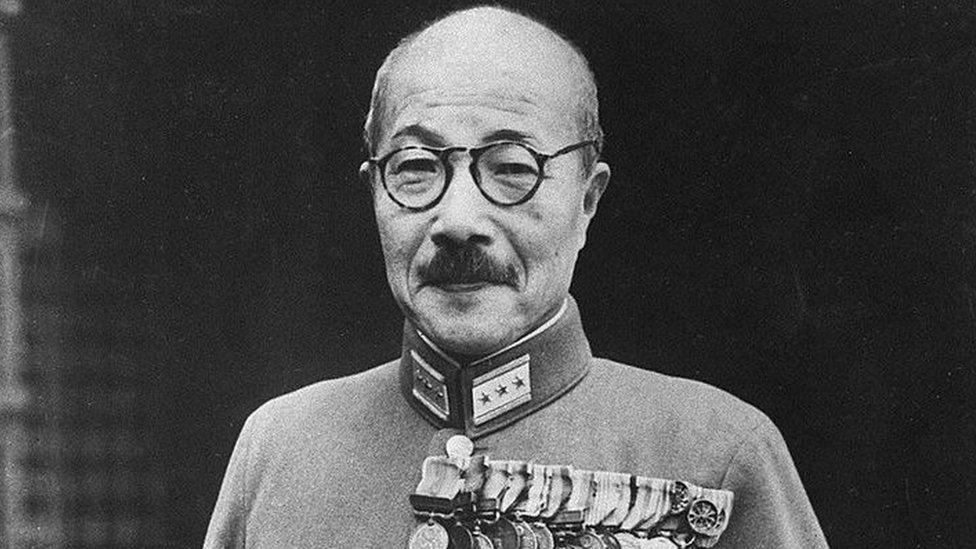 Japan's wartime Prime Minister Hideki Tojo, pictured in the 1940s