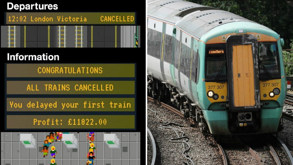 Southern Rail Tycoon game screenshot