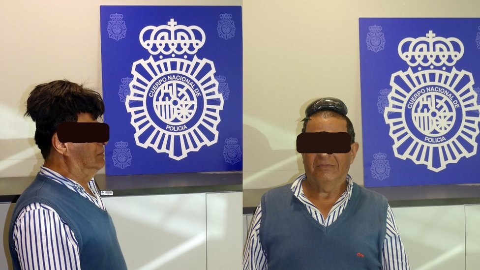 Police caught a man with cocaine under his wig