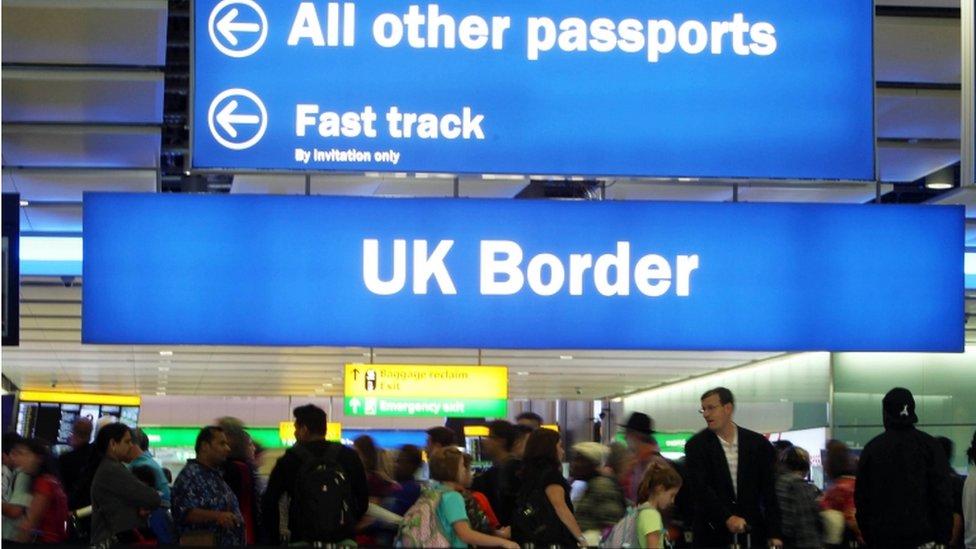 UK Border signs