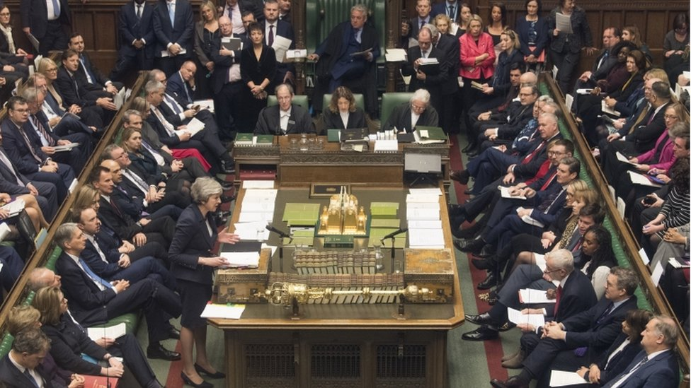 Theresa May in the Commons