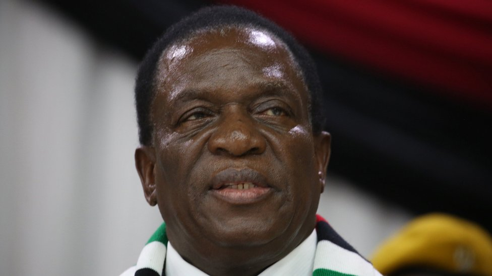 Zimbabwean President Emmerson Mnangagwa arrives for the Zimbabwe African National Union (Zanu PF) inaugural 2018 Zanu PF National Assembly of the youth league at the party headquarters in Harare, Zimbabwe, 07 March 2018