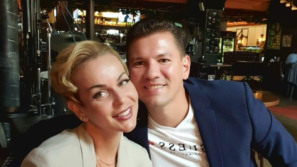 Image shows Natalia and her husband Vladimir