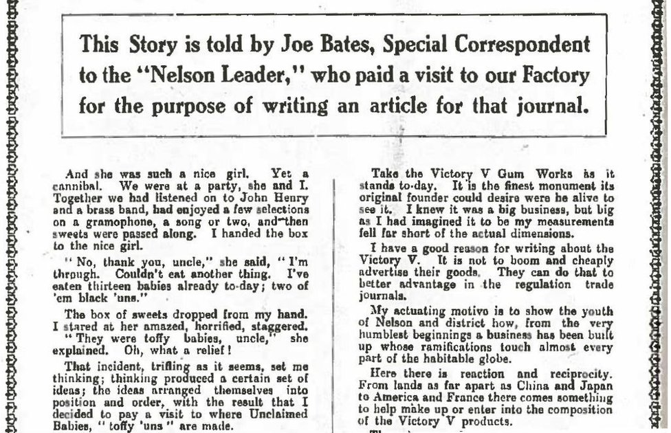 An article from the Nelson Leader from 1924