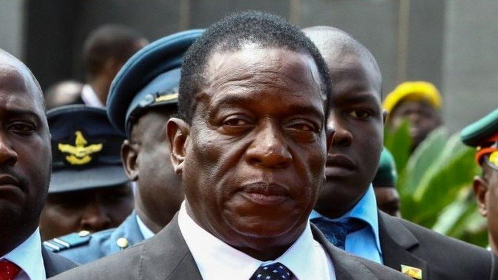 Zimbabwe's ex-Vice President Emmerson Mnangagwa pictured on 7 January 2017