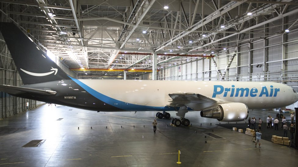 One of Amazon's leased planes